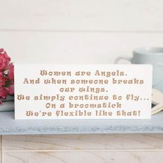 I Just Love It Women are Angels Wooden Decoration Women are Angels Wooden Decoration - Gift Details. Our resilience is quite impressive isnt it? Us ladies might not always be saintly but we sure as hell never give up trying!. This handmade wooden b http://www.MightGet.com/january-2017-11/i-just-love-it-women-are-angels-wooden-decoration.asp