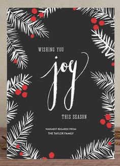 Holiday pines 'holiday joy' card by Minted http://rstyle.me/n/syba4n2bn