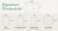 dimensions for our pocket fold invites, need to make sure the paper is cut correctly!