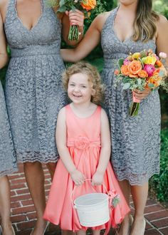 Gray lace + coral A Lowcountry Wedding Blog & Magazine