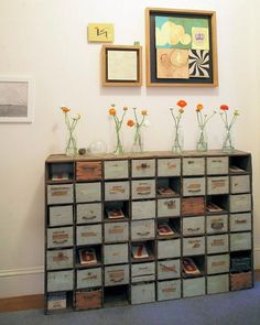 I'd really like something with lots of drawers or cubbies to organize art/craft supplies.