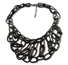 Black statement necklace(perfect with a black jumpsuit)