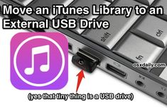 How to move an iTunes Library to an external drive