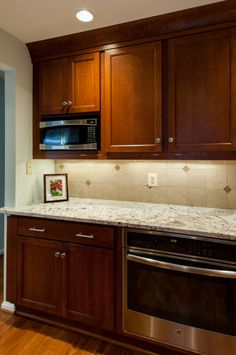Designed by Jan Goldman, owner of Kitchen Elements, this space features Showplace cherry! Thanks for making Showplace look great in Maryland!  Learn more about Kitchen Elements: http://www.kitchenelements.com/ Learn more about our stain offerings on cherry: http://www.showplacewood.com/WoodsFin2/woodsC.0.html