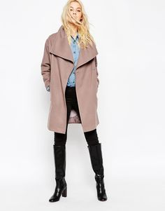 ASOS+Oversized+Funnel+Neck+Coat