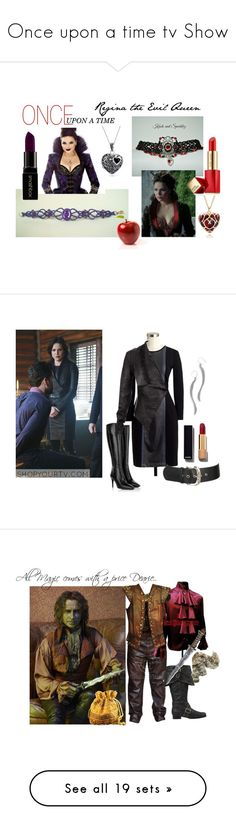 """""""Once upon a time tv Show"""" by lory187 ❤ liked on Polyvore featuring art, Once Upon a Time, Prada, Chanel, BillyTheTree, Once, Rumplestiltskin, Paige Denim, Timberland and Lauren Ralph Lauren"""