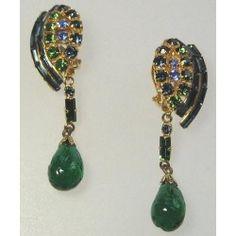 1960s gilt metal, clip earrings