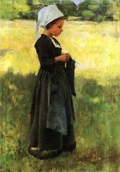 Breton Girl, 1884  Willard Metcalf