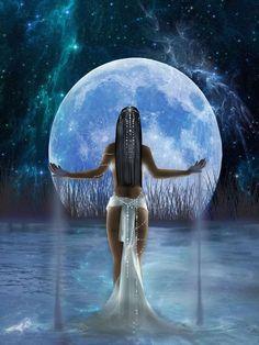 """¡¡¡¡DIOSA """"KUYEN""""!!!!!  la Luna considerada madre controladora del espíritu de las aguas y de lo femenino, protectora de los sueños"""