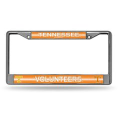 Tennessee Volunteers NCAA Bling Glitter Chrome License Plate Frame