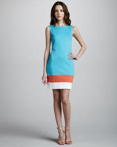 Trina Turk Cheer Sleeveless Shift Dress - pattern New Look 0126 6095 inspiration