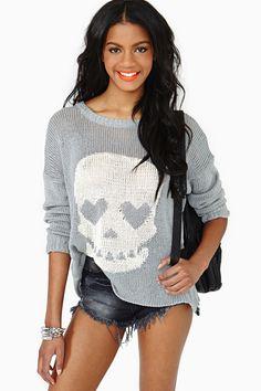 Skull Crusher Knit - Gray