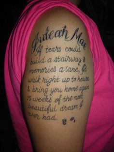 Crazy Shoulder Quotes Tattoos for Women