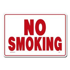 10 X CLEAR NO SMOKING STICKERS VIEW BOTH SIDES ON GLASS SIGN STICKER