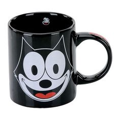 Felix the Cat Black Coffee Mug - get it at ENTHOOZIES 3 Cherry St Walden NY