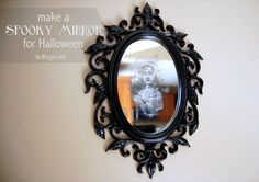 make a spooky mirror for Halloween - NoBiggie.net