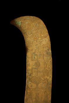 "Yoruba Brass Udamalore Ceremonial Sword - PF.5057  Origin: Southwestern Nigeria  Circa: 20 th Century AD   Dimensions: 20"" (50.8cm) high   Collection: African Art  Medium: Brass    $3,000.00   Location: United States"