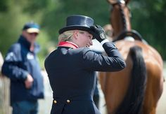 Zara at the Luhmühlen horse trials in Salzhausen, Germany 14 June 2013