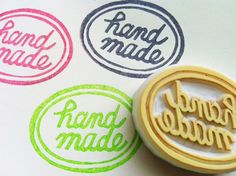 handmade hand carved rubber stamp hand lettered by talktothesun, $12.00