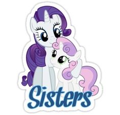 Rarity's sister Sweetie Belle, who in conjunction with Apple Bloom and Scootaloo is searching for her Cutie Mark, the marking that shows up on a pony once they figure out their special calling. She's really good at singing.
