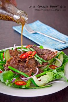 Beyond Kimchee: Crisp Korean Beef Salad, and a jar of citron tea -- ooooh, that looks good!