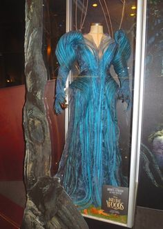 Meryl Streep Into the Woods blue Witch costume, designed by Oscar winner Colleen Atwood
