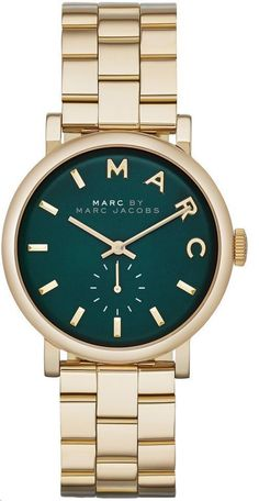 cool Montre pour femme : New Marc By Marc Jacobs MBM3245 Baker Gold Tone Stainless Steel womens Watch...