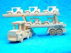 LadislavKurnota / drevené nákladné auto + 5 autíčok Wooden Toys, Car, Wooden Toy Plans, Wood Toys, Automobile, Woodworking Toys, Autos, Cars