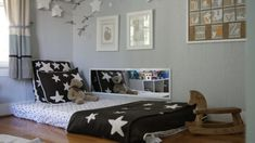 Floor bed baby ikea bedroom ideas beds for toddlers diy nice toddler bedrooms glamorous with and stars near horse rocking chair on the wooden an Ikea Bedroom, Baby Bedroom, Bedroom Decor, Modern Bedroom, Bedroom Ideas, Bedding Decor, Boho Bedding, Modern Bedding, Bed Ideas