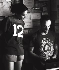 Johnny and Lucy - Elementary. Feeling the t-shirt with my name on it!