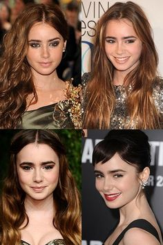 Lily Collins hair style history - Lily Collins hair style history