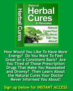 Healthy Exercise, How To Eat Less, Feeling Great, Drugs, Herbalism, The Cure, Remedies, Told You So