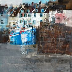 fishing boats Pittenweem by Mike Bernard Mike Bernard, Michael Bernard, Kitsch, Boat Drawing, Collage Techniques, Beach Art, Fishing Boats, Landscape Paintings, Landscapes