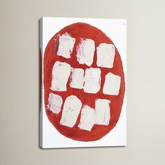 "Brayden Studio I Like Pizza by Heather Chontos Painting Print on Wrapped Canvas Size: 40"" H x 26"" W x 1.5"" D"