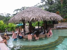 The swim-up bar at the Tabacon hot springs near Arenal Volcano in Costa Rica (photo by Elaine Barch)
