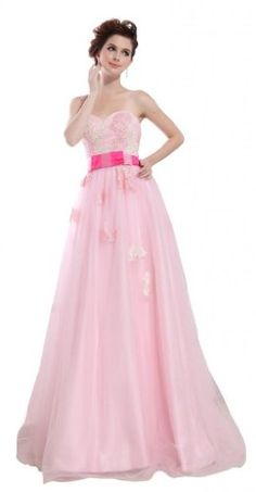 64d49d069d Orifashion Eyeful Strapless Prom Dress with Flower Pleated EDSHER0490 US  Size 8        AMAZON BEST BUY