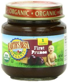 Earths Best Organic Stage 1 Prunes 2.5 Ounce Jar (Pack of 12) Reviews