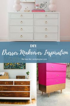 DIY   Upcycle Dresser Makeover, Classic, White With Gold Accents