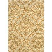 Found it at Wayfair - Carriage Hill Woven Ivory / Gold Area Rug