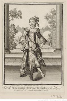 Fille de Barquerole, dansant la furlana, à l'opéra du Carnaval de Venize, représenté à Paris : [estampe]