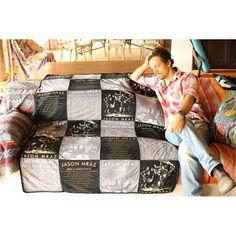 New Jason Mraz merchandise!! :) I wish the blanket came with him lol