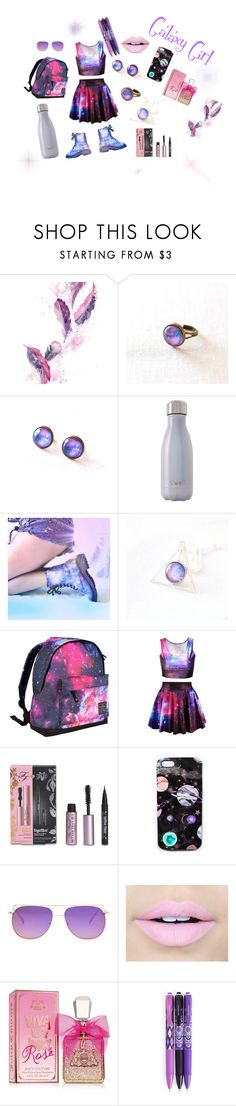 """""""Galaxy Girl"""" by monkeymcm ❤ liked on Polyvore featuring S'well, Hot Tuna, Too Faced Cosmetics, Nikki Strange, Fiebiger, Juicy Couture and Vera Bradley"""