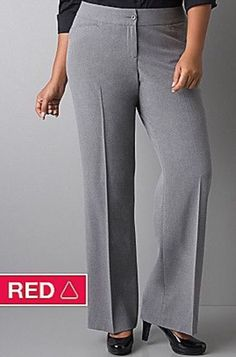 NWT LANE BRYANT CLASSIC TROUSER W/RIGHT FIT TECHNOLOGY - GREY - SIZE 28 #LaneBryant #DressPants