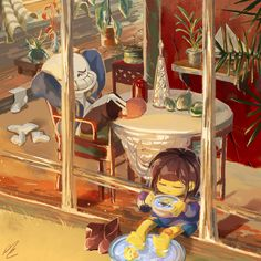 Just a peaceful Sunday afternoon with a sleeping skeleton and a eyes closed child chilling with the bathtub. Anime Undertale, Undertale Ships, Undertale Drawings, Sans And Papyrus, Sans Frisk, Undertale Pictures, Toby Fox, Fandom, Underswap