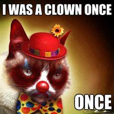 Grumpy clown #GrumpyCat #FanArt
