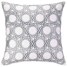 COCOCOZY Oxford Gray Embroidered Pillow