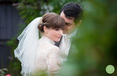 Real Bride Grace wore a short Richard Designs veil for her magical winter wedding!