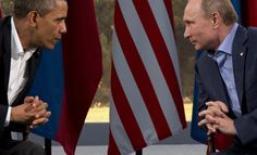"Putin: U.S. and Russia's positions on Syria do not ""coincide""--President Barack Obama meets with Russian President Vladimir Putin in Enniskillen, Northern Ireland, Monday, June 17, 2013. Obama and Putin discussed the ongoing conflict in Syria during their bilateral meeting. (AP Photo/Evan Vucci)"