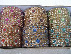 Kundan glitter Meenakari Indian bangles 4