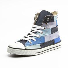 Sneaker, blau/multicolor